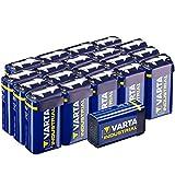 Varta Batterien 4022 6LR61 9 Volt Block (für energieintensive Geräte z.B. elektronische Rauchmelder, Vorratspack 20 Stück)