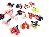 Best Hair Bows - Generic 12Pcs Mixed Bowtie Kids Child Hair Snap Review
