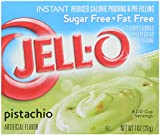 JELL-O SUGAR FREE PISTACHIO REDUCED CALORIE INSTANT PUDDING & PIE FILLING 1 x 28g BOX