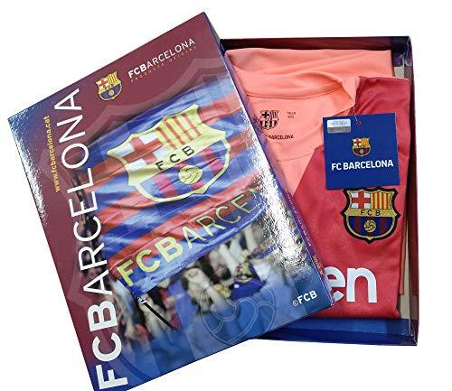 Kit Camiseta y Pantalón Tercera Equipación 2018-2019 FC. Barcelona - Réplica Oficial Licenciado - Dorsal Liso (10 años)