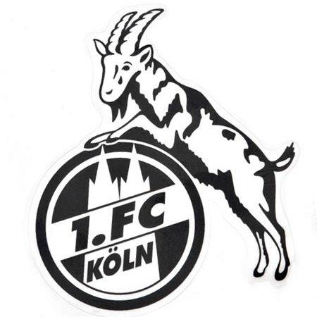 Preisvergleich Produktbild STICKER AUFKLEBER transparent (schwarz) 1. FC KÖLN