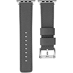 ZULUDIVER Waterproof Diver's Watch Strap Grey / Grey for Apple Watch 42mm