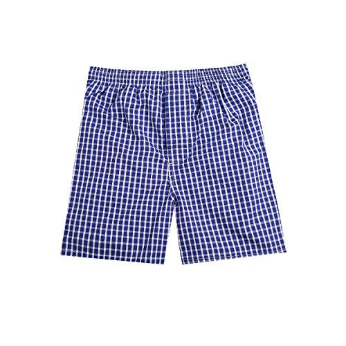 Pau1Hami1ton B-01 Men's Woven Boxer Shorts Cotton Trunks Button Plaid Briefs Checkered Underwear