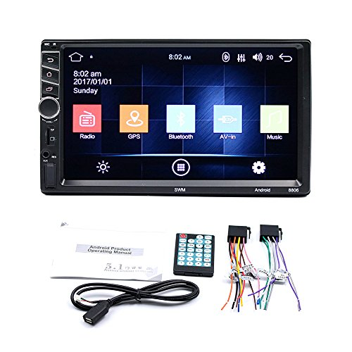Quad-band 3g Gps (REFURBISHHOUSE Autoradio Stereo Fuer Android 7.1 MP5 Quad 3G WiFi 7 Zoll Dual 2DIN GPS-Spieler CAM)