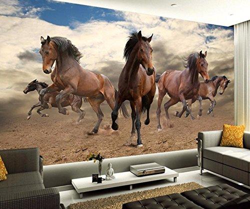 Minyose Custom Wallpaper Home Decorative Mural 3D Stereo Pioneer Pepsi Horse Frame TV Wall mural 3d wallpaper-450cmx300cm