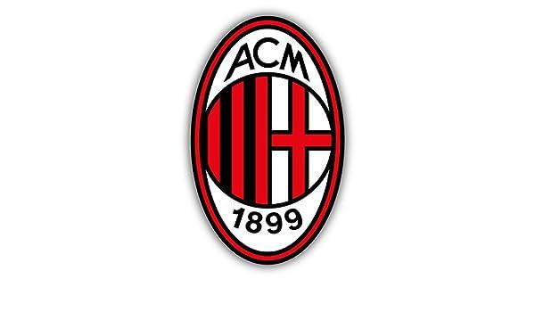 Qualityprint A C Milan Fc Italy Europe Soccer Sport Football Decor Vinyl Sticker 14 X 9 Amazon In Home Kitchen