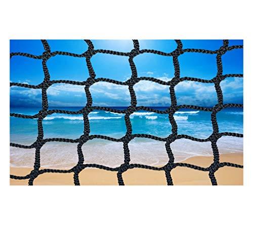 Cat Net Net Seil Kinder Netto-Balkon Schwarz Volleyball Schutznetz Treppe Im Freien Nylon Golf Badminton Sicherheit Handbalziel Fußball Fuß Katze Baby Sicherheit Schwarzes Netz (Size : 4x6m)