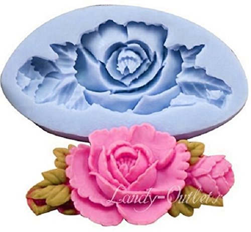silicone-mould-for-making-a-cast-of-a-rose-with-long-leaves-for-sugar-pastes-fondants-for-food-diy-u