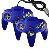 pomilan Spiel Gaming Pad Konsole Controller für Nintendo 64N64(Blau und Blau)