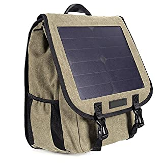 Eastlion 10W Solar Power Backpack Solar Power Charger Bag for Phone,iPad,Camera,PSP,GPS and other 5V Devices,Army Green