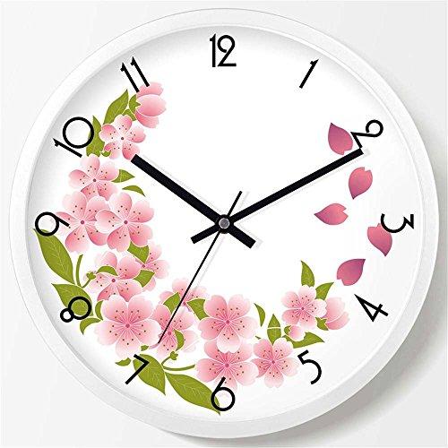 WALL CLOCK WERLM Salon élégant Horloge Murale Horloge Creative Chambre Salon Chambre à Coucher Horloge Murale Mute réveil Horloge Murale Quartz Blanc, devrait être de 20 cm
