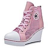 sale retailer b4056 c8242 Kivors Donne Ragazza Sneaker Scarpe da Ginnastica Piattaforme Cuneo  Laterale con Cerniera con Lacci Sneakers,