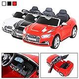 Actionbikes Motors Kinder Elektroauto Audi S5 Cabriolet Leder Sitz Kinderfahrzeug Kinderauto Kinderelektroauto Eva Reifen (Rot)