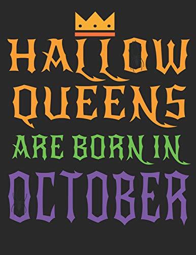 HallowQueen October Birthday Girl Notebook Lined Journal