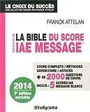 la bible du score iae message admissions 2014