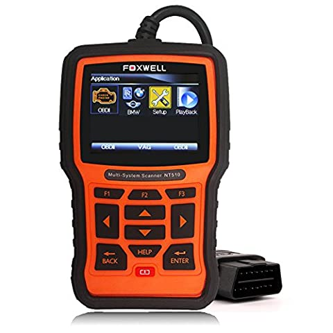 Foxwell NT510 Full System Scanner for Bmw, Mini and Rolls-Royce with Actuation, Adaptation and Programming Functions