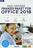 FRANZIS Das große FRANZIS Paket für Office 2018|Office-Vorlagen|keine Einschränkung|zeitlich unbegrenzt|Windows 10/8.18/7 Microsoft Word/Excel/PowerPoint/Outlook 2007/2010/2013/365|Disc|Disc