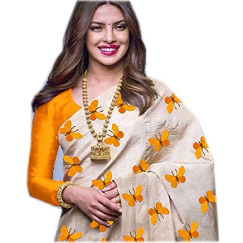 Sarees below 1000 rupees party wear Sarees new collection Sarees party wear Saree 2018 Sarees for women party wear Sarees for women latest design party wear Sarees new collection 2018 party wear Priyanka Chopra Cream Yellow Colour Chanderi Zarna Silk Butterfly Embroidered workSaree Functional Wear Saree Sarees below 500 rupees Sarees below 300 rupees party wear saree under 1000 rupees party wear saree under 500 rupees party wear  available at amazon for Rs.549