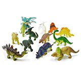 Genericdinosaur : 13pcs BOHS Cute Assorted Farm & Forest Animals Dinosaur Toys Pig Rabbit Domestic Poultry Model Classic Toy