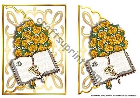 Traverser La bible et bouquet de mariage avec bords ondulés enveloppe Par Michelle Johnson
