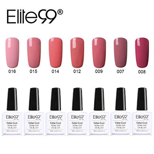 Vernis Semi permanent Elite99 Vernis à Ongles Gel UV LED Nue Couleur Soakoff 7pcs Kit Manicure Pour Ongle