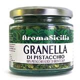 100gr gehackte Pistazien aus 100% Pistazien Bronte DOP Sizilien in wieder-verschließbarem Glas, ungesalzen, ungeschält