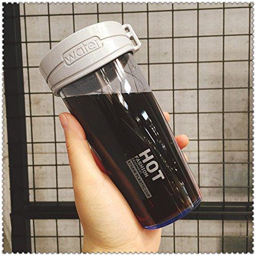 Damlonby Anti-choc facilement tasse en plastique de petit bol d'eau fraîche, bleu