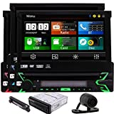 HD-R¡§1ckkamera Includ 8GB Karte 7-Zoll-Headunit Dash 1 din Autoradio-Stereo GPS Navigatio Bluetooth Autoradio abnehmbares Bedienteil Touchscreen Funkempf?nger FM AM RDS Logo Optional Car Entertainme
