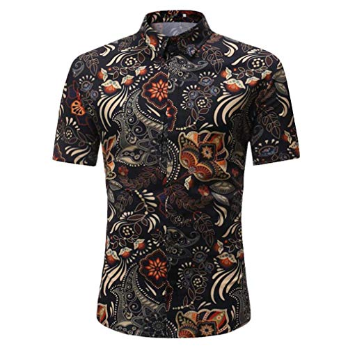 Camisetas Hombre de BaZhaHei, Manga Larga de Hombre La Blusa Superior de Manga Corta Delgada Ocasional de los Hombres de la Personalidad imprimió la Blusa Camisetas Manga Larga Estampada para Hombre