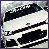 Stickerbude24 - Adesivi RACING SPORT 85 cm, colore selezionabile, per parabrezza auto/camion/moto, 2 pz