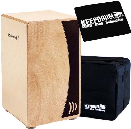 Schlagwerk CP 550 Cajon Agile Base Natur + Keepdrum Tasche + Cajon Sitzpad
