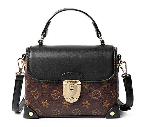 Xinmaoyuan borse Donna Primavera ed Estate Stampa Borsa confezione piccola borsa a tracolla trasversale femmina sacco bag Pu trasversale di blocco quadrato piccolo sacchetto kaki
