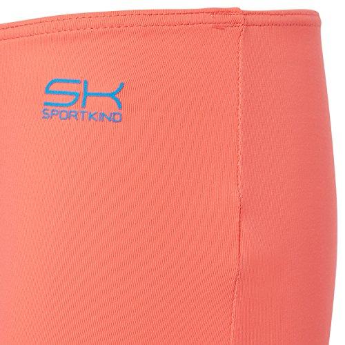 Sportkind Mädchen & Damen Tennis / Volleyball / Sport Shorts Neon Orange