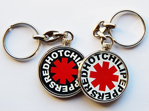 red-hot-chili-peppers-american-band-quality-chrome-keyring-picture-different-each-side