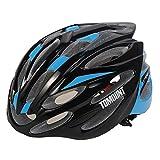 TOMOUNT Casque de Vélo Helmet 56-63cm Noir Bleu Avec Visière pour Route Cyclisme Adulte