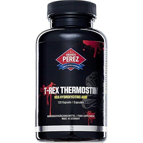 T-REX ThermoStim - Fatburner & Appetitzügler - fettburner muskelmasse muskeldefinition - 120 Kapseln - Fatburner der Giganten mit muskelaufbauenden Eigenschaften (Trex-arme)