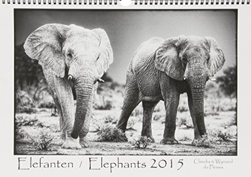 Elefanten 2015/Elephants 2015: Schwarz-Weiß-Kalender