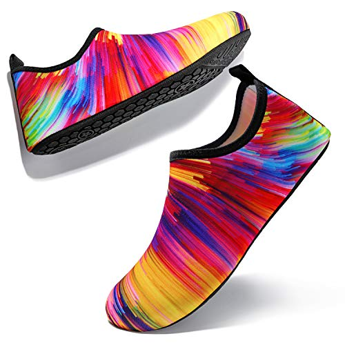 Aquaschuhe Schwimmschuhe Strandschuhe Surfschuhe für Herren Damen Slip On Breathable Wasserschuhe Jungen Rutschfeste Yoga Beach Shoes