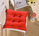 srovfidy Stuhl Liegestuhl aus weichem Kissen Sitz in Garten Sitzkissen 40x 40x 8cm 1PCS rot