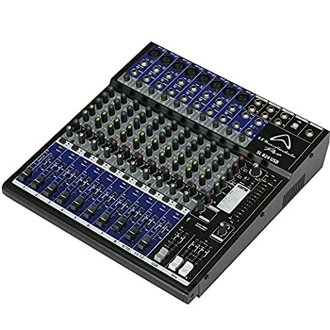 Wharfedale Pro SL824USB Mixer with 8 Microphone/Auxiliary/USB/EFX and Rack Mount Kit