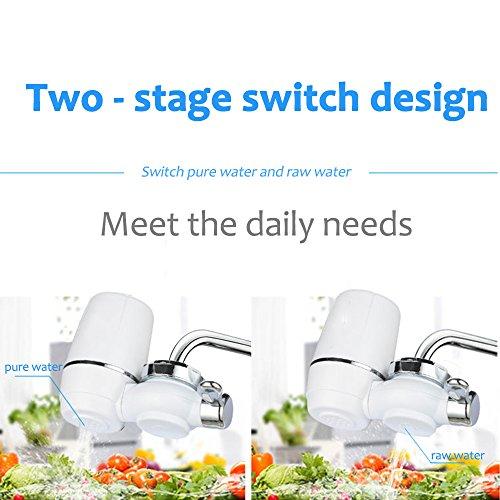 Wasserhahn Wasserfilter, EgoEra® 8 Schicht Leitungswasser Filter / Wasseraufbereiter Trinkwasser / Wasserfilter Wasserreiniger für die Küche mit Keramischen Filterpatrone -