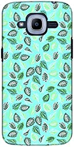 The Racoon Grip printed designer hard back mobile phone case cover for Samsung Galaxy J2 (2016). (Cyan Ornat)