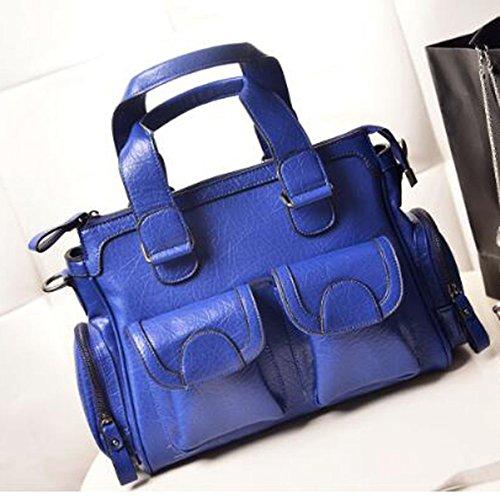 Borsa A Tracolla In Pelle Multicolore Vintage Handbags Blue