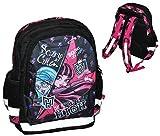 Monster High - großer Rucksack / Schulrucksack - Draculaura - für Kinder - mit 5 Fächern + Reflektor Kinderrucksack / mit Trinkflaschenhalterung - groß Kind Mädchen Sportrucksack z.B. auch für Kindergarten und Vorschule