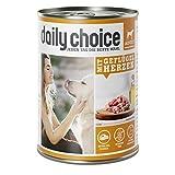 daily choice | Mit Geflügelherzen | 6 x 400 g | Nassfutter für Hunde | Extra viel pures Fleisch & Innereien | Getreidefrei | Optimal verdaulich | Hergestellt in Deutschland | Ohne Tierversuche, Zucker, Farb- & Konservierungsstoffe
