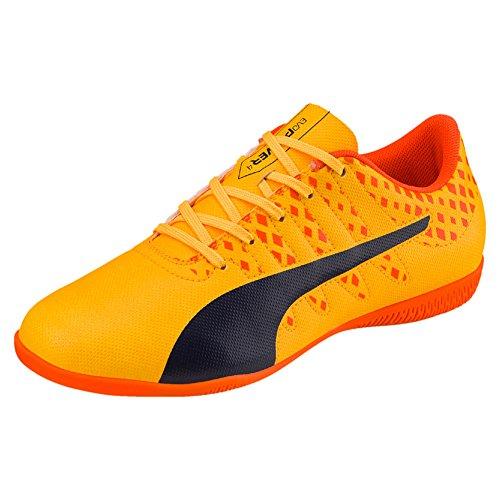 Puma Unisex-Kinder Evopower Vigor 4 It Jr Fußballschuhe orange - dunkelblau