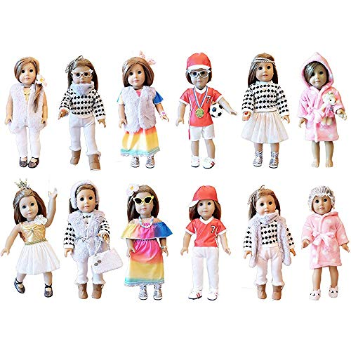 Estrange 35 American Girl Doll Accessories - 30.48 cm Doll Clothing Accessories Set for American Girls Our 4th Generation Journey Girls from weardoll 6Months (Doll Girl American Onesies)