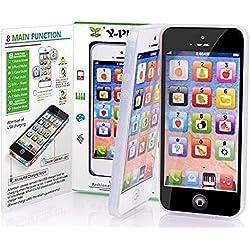 Amyove Réveils éducatifs 2 pcs Simulation Téléphone Électronique Jouets Bébé/Enfants Préscolaire Anglais Apprentissage Mobile (sans USB) Cadeaux de Noël,Christmas