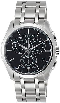 Tissot T0356171105100 - Reloj analógico de caballero de cuarzo con correa de acero inoxidable plateada