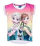 Disney Die Eiskönigin Elsa & Anna Mädchen T-Shirt - weiß - 116